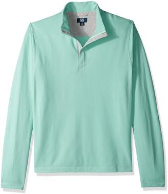 Cutter & Buck Men's Big and Tall Hewitt Lightweight Honeycomb Textured Half-Zip Sweatshirt