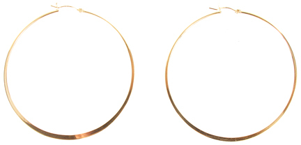 Jennifer Zeuner Large Hoop Earrings