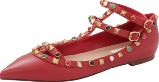 VALENTINO Rockstud Rolling Cage Flat $1,275 thestylecure.com
