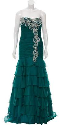 Jovani Strapless Embellished Gown w/ Tags