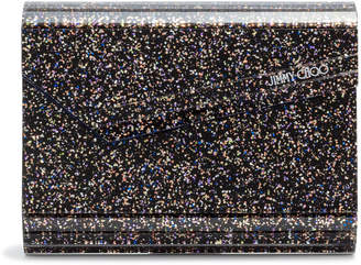 Jimmy Choo Candy Black Glitter Clutch