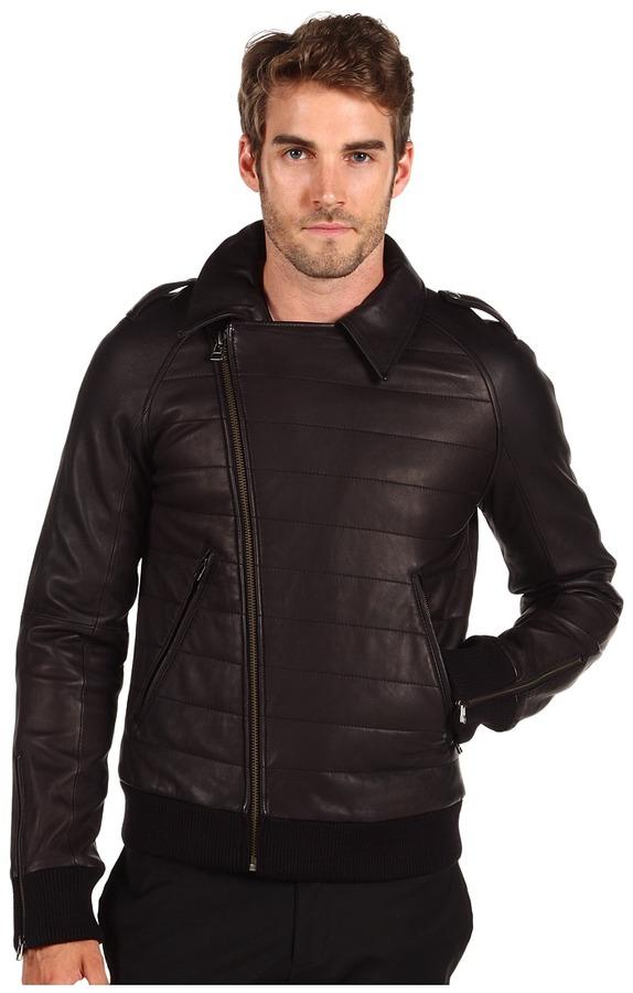 SLVR Leather Biker Jacket (Black) - Apparel