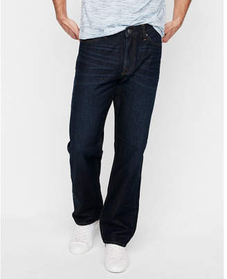 Express loose straight dark wash 100% cotton jeans