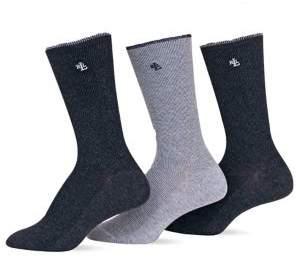 Ralph Lauren 3-Pack Tipped Rib Trouser Socks