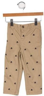 Ralph Lauren Boys' Embroidered Elasticized Waist Pants