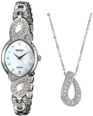 Seiko Women's 'Ladies Crystal Jewelry' Quartz Stainless Steel Casual Watch