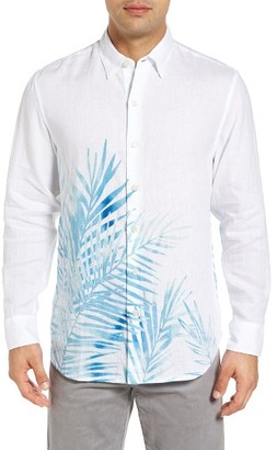 Men's Big & Tall Tommy Bahama Fo' Rio Fronds Linen Shirt $148 thestylecure.com