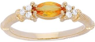 Judith Ripka 14K Gold Gemstone Diamond Ring