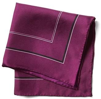 Banana Republic Multi-Border Silk Pocket Square