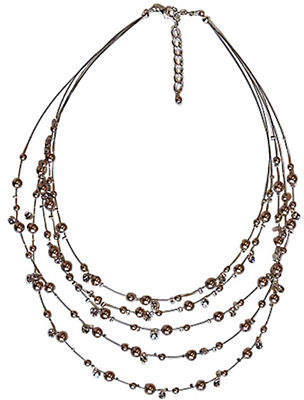 Cezanne Five Row Illusion Necklace