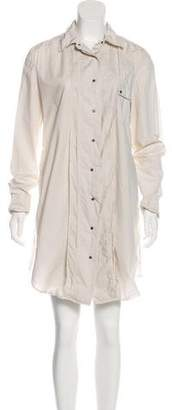 Lanvin Collared Long Sleeve Shirtdress