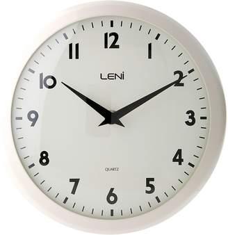 Leni Plastic School Wall Clock, 24cm, Bella Ivory
