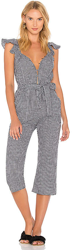 For Love & Lemons Gingham Jumpsuit in Black. - size L (also in M,S,XS)