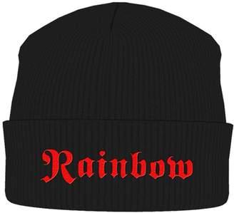 Rainbow Beanie Hat Cap classic band Logo Official New