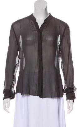 Theory Crepe Silk Blouse
