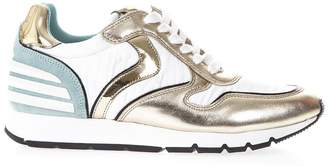 Voile Blanche Julia Power In Fabric And Leather Sneakers
