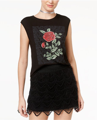 Disney Beauty and the Beast Juniors' Rose Graphic T-Shirt $29 thestylecure.com