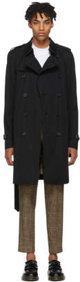 Burberry Black Sandringham Trench Coat