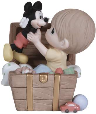 Precious Moments Disney's Mickey Mouse Toy Chest Boy Figurine