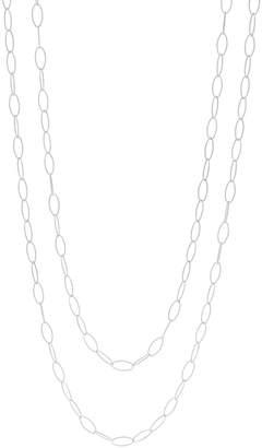 "Judith Ripka Verona 72"" Sterling or 14K Clad Link Necklace"