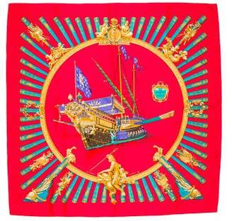 Hermes La Marine À Rames Silk Scarf