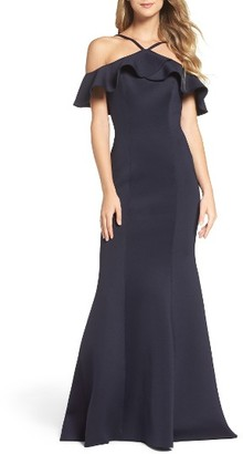 Women's La Femme Off The Shoulder Mermaid Gown $398 thestylecure.com