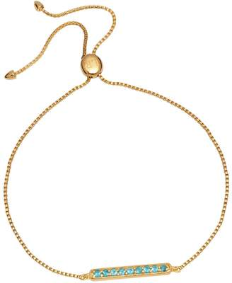 Lola Rose London - Curio Bar Slider Bracelet Neon Apatite
