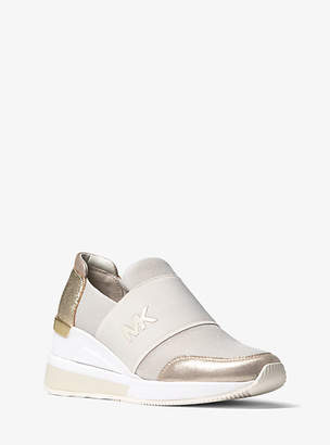 Michael Kors Felix Scuba And Metallic Sneaker
