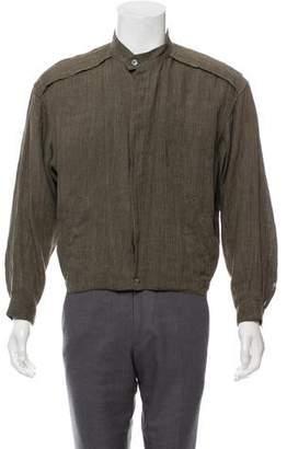 Issey Miyake Lightweight Button-Up Bomber Jacket