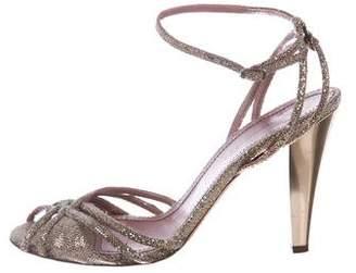 Jean-Michel Cazabat Glitter Multistrap Sandals