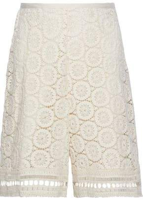 See by Chloe Crocheted Cotton Shorts
