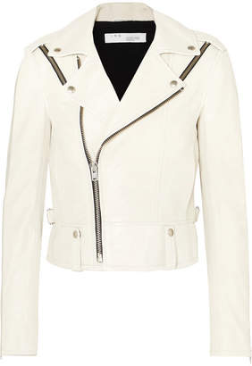 IRO Ozark Leather Biker Jacket - Off-white