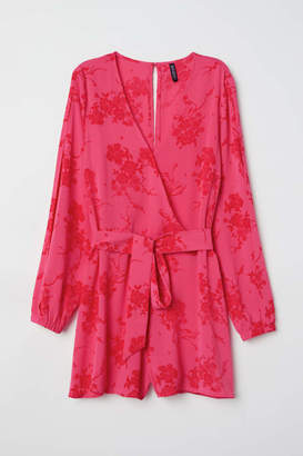 H&M Jumpsuit - Raspberry red/floral - Women