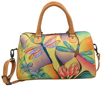 Anuschka Anna by Handpainted Leather Large Zip Around Satchel