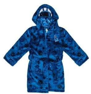 Petit Lem Little Boy's Cosmic Club AOP Hooded Robe