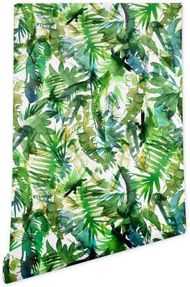 Deny Designs Schatzi Brown Vibe of the Jungle Green Wallpaper