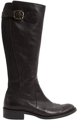 Emporio Armani Leather riding boots