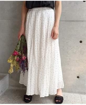 aquagirl (アクアガール) - aquagirl コットンボイルドットスカート アクアガール スカート