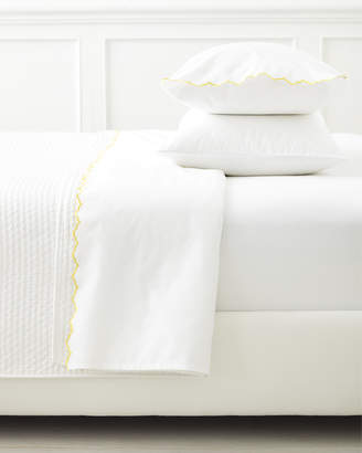 Serena & Lily Scallop Embroidered Sheet Set - Sunshine