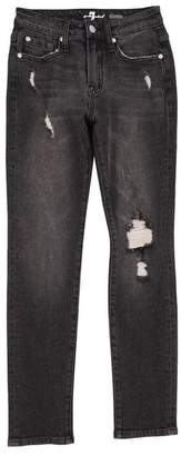 7 For All Mankind Kids Boys 8-16 Paxtyn In Eclipse Black