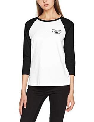 c0efc63c at Amazon.co.uk · Vans Women's Full Patch Raglan T-Shirt, White/Black Yb2