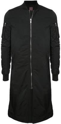 Rick Owens long bomber jacket