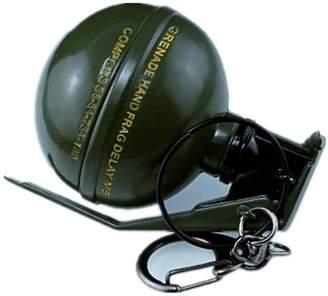 Micrkrowen Creative Alloy Grenades Keychain