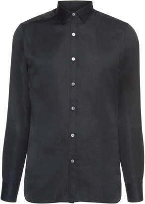 Lanvin Evolutive Satin Button-Up Shirt