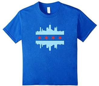 SKYLINE CITY CHICAGO FLAG T Shirt