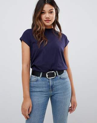 Brave Soul capped t-shirt in navy