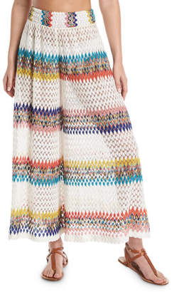 Missoni Mare Wavy-Knit High-Rise Coverup Pants