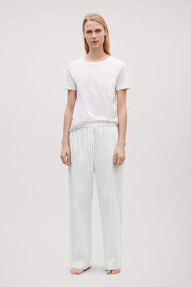 Cos PINSTRIPED COTTON PYJAMA TROUSERS