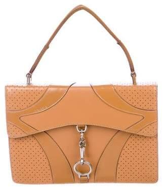 Pre Owned At Therealreal Prada Perforated Top Handle Bag
