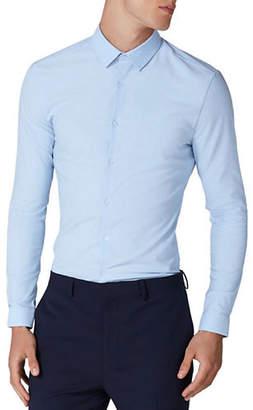 Topman Muscle Fit Textured Sport Shirt